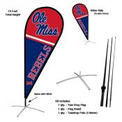 Ole Miss Teardrop Flag and Stand Kit