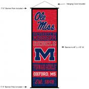 Ole Miss Wall Banner and Door Scroll