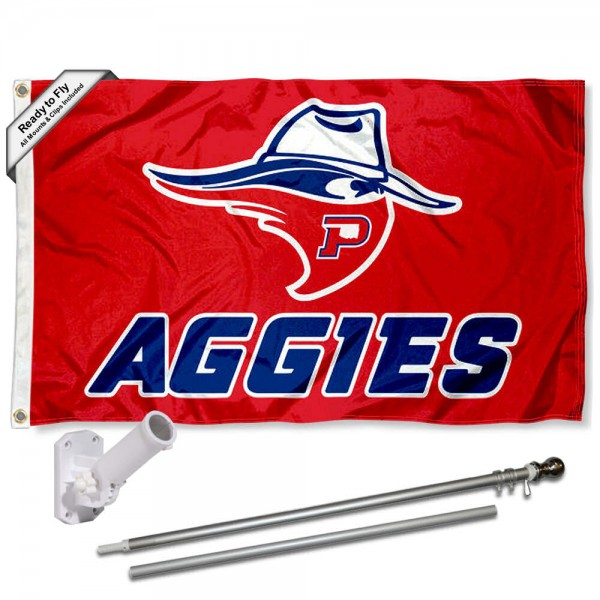 OPSU Aggies Flag and Bracket Mount Flagpole Set