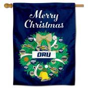 Oral Roberts Eagles Christmas Holiday House Flag