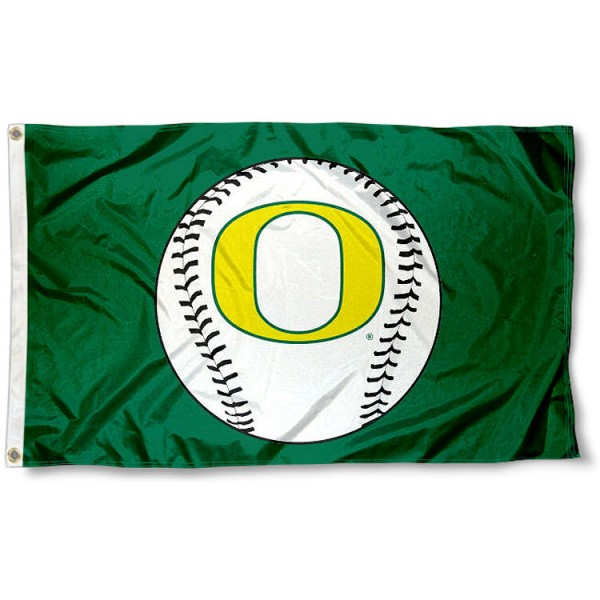 Oregon Ducks Baseball Flag