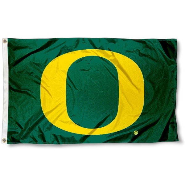 Oregon Ducks Big O Flag