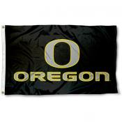 Oregon Ducks Black and Gray Flag