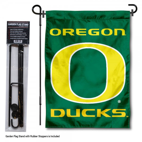 Oregon Ducks Garden Flag and Holder