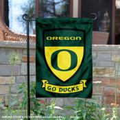 Oregon Ducks Shield Garden Flag