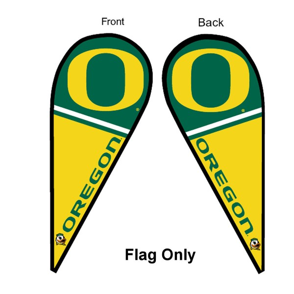 Oregon Ducks Teardrop Flag