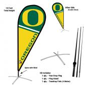 Oregon Ducks Teardrop Flag and Stand Kit