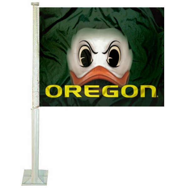Oregon Ducks The Duck Eyes Car Flag
