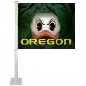 Oregon Ducks The Duck Eyes Car Flag