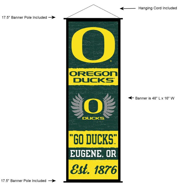 Oregon Ducks Wall Banner and Door Scroll