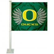 Oregon Ducks Wings Logo Car Flag