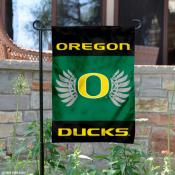 Oregon Ducks Wings Logo Garden Flag
