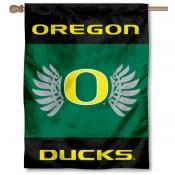 Oregon Ducks Wings Logo House Flag