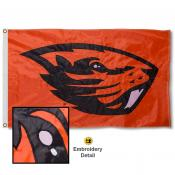 Oregon State Beavers Appliqued Sewn Nylon Flag