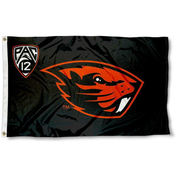 Oregon State Beavers Pac 12 Flag