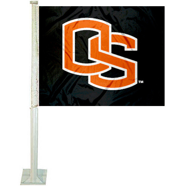 Oregon State OS Logo Car Flag