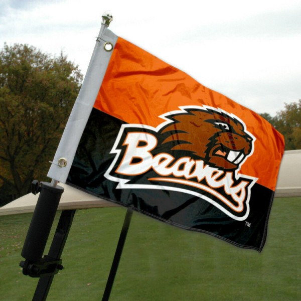 Oregon State University Golf Cart Flag