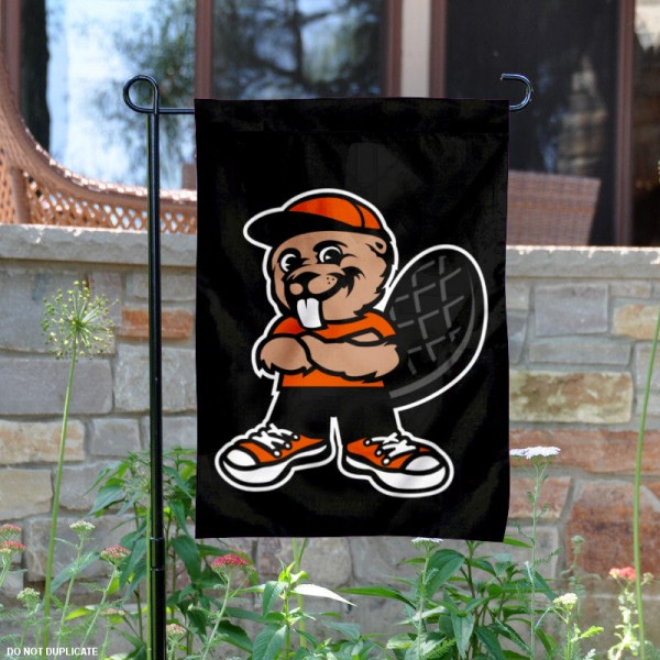 OSU Beavers Benny Mascot Garden Flag