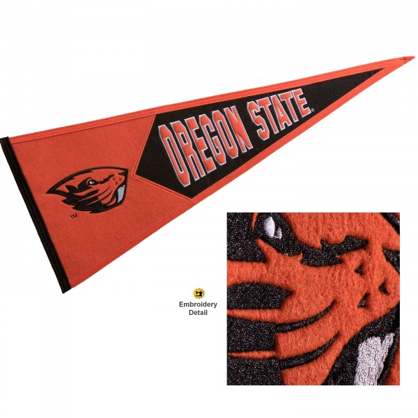 OSU Beavers Embroidered Wool Pennant