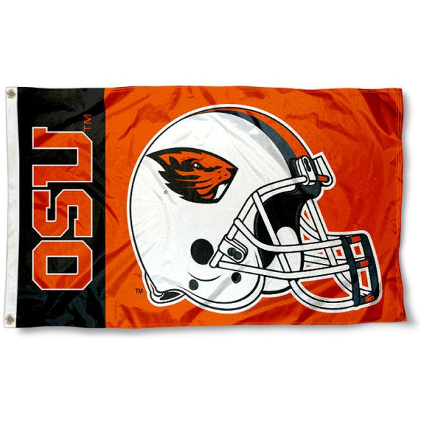OSU Beavers Football Helmet Flag