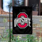 OSU Buckeye Black Logo Garden Flag