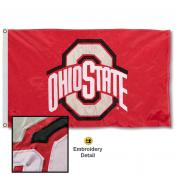 OSU Buckeyes Appliqued Nylon Flag