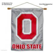 OSU Buckeyes Block O Banner with Pole