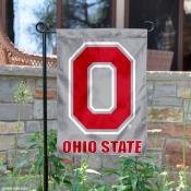 OSU Buckeyes Block O Logo Grey Yard Flag
