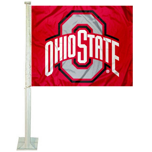 OSU Buckeyes Car Flag