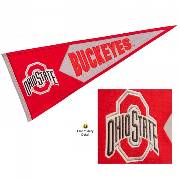 OSU Buckeyes Embroidered Wool Pennant