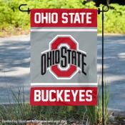 OSU Buckeyes Garden Flag