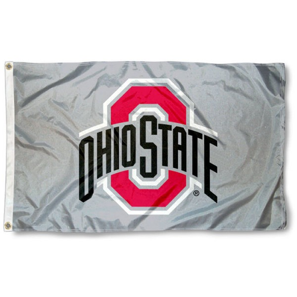 OSU Buckeyes Gray Flag