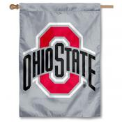 OSU Buckeyes Grey Logo House Flag