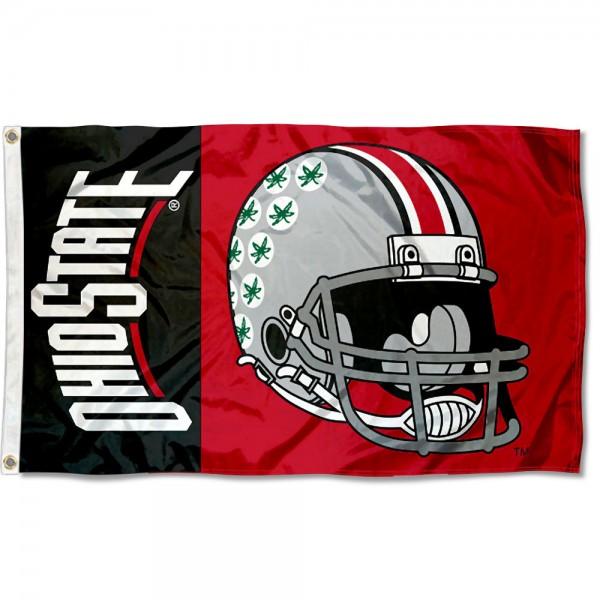 OSU Buckeyes Helmet Flag