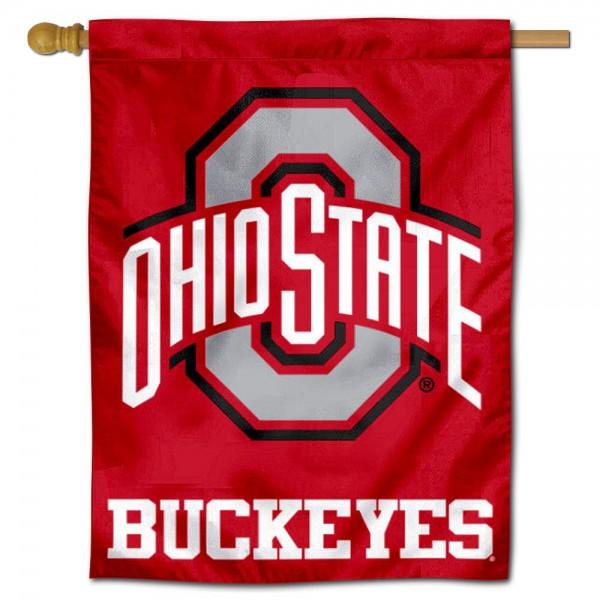 OSU Buckeyes Logo House Flag