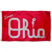 OSU Buckeyes Script Ohio Logo Flag