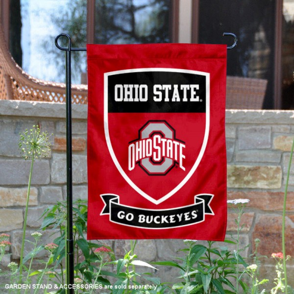 OSU Buckeyes Shield Garden Flag