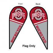 OSU Buckeyes Teardrop Flag