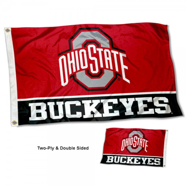 OSU Buckeyes Two Sided 3x5 Foot Flag