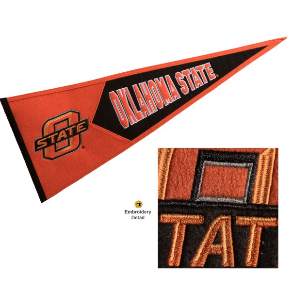 OSU Cowboys Embroidered Wool Pennant