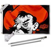 OSU Cowboys Flag and Bracket Flagpole Kit