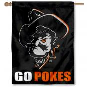 OSU Cowboys Go Pokes Pistol Pete House Flag