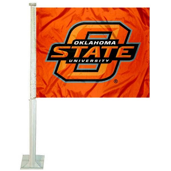OSU Cowboys Orange Car Flag