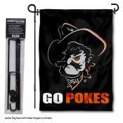 OSU Cowboys Pistol Pete Garden Flag and Holder