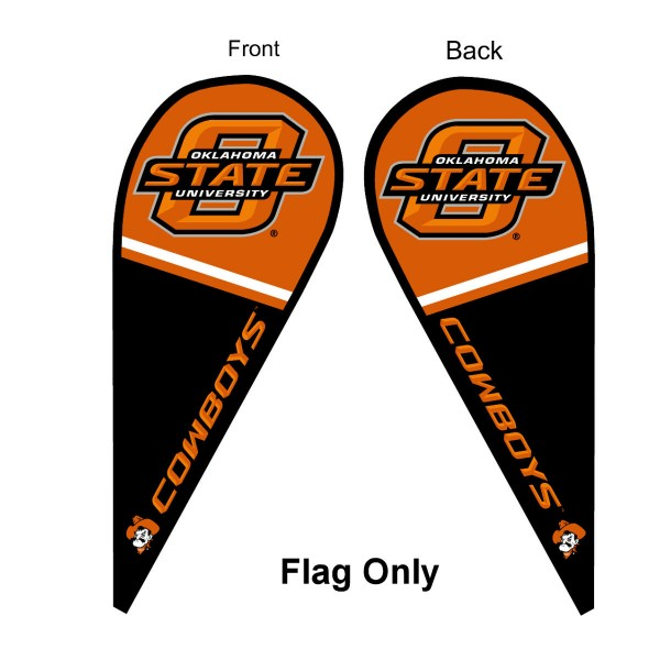 OSU Cowboys Teardrop Flag