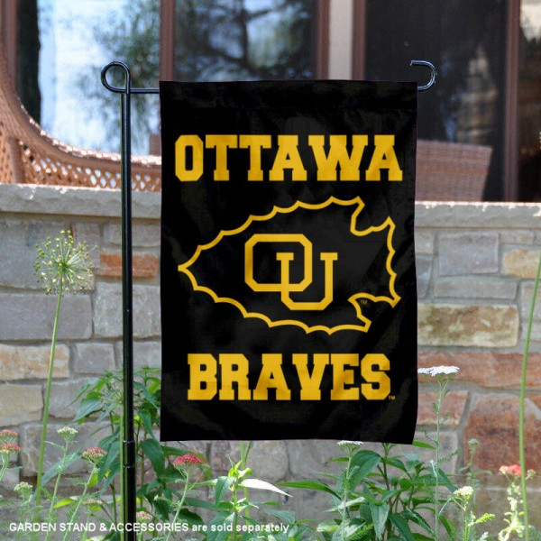 Ottawa Braves Black Garden Flag