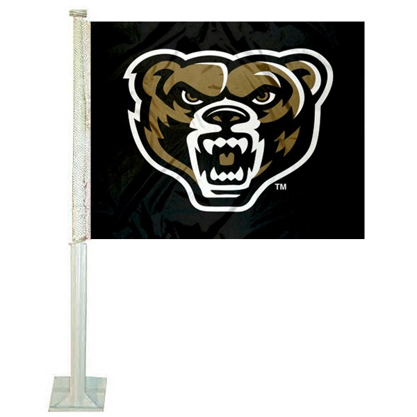 OU Grizzlies Car Flag