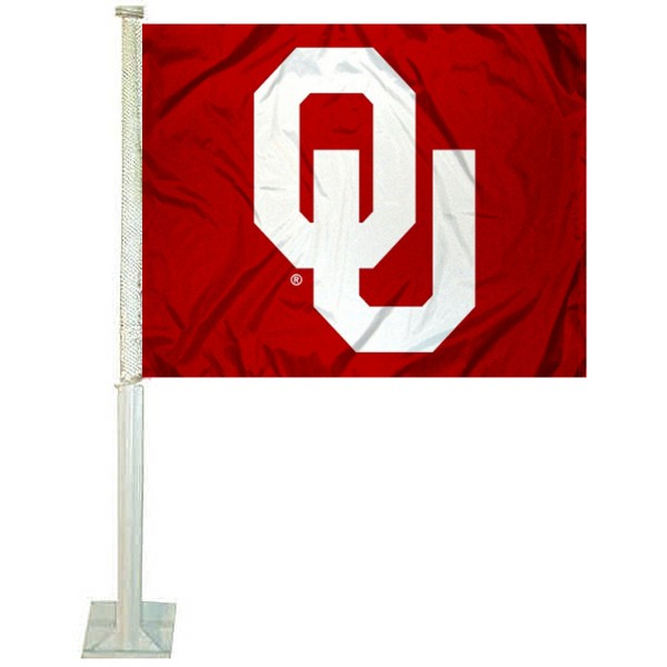 OU Sooners Car Flag