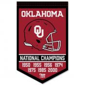OU Sooners College Football National Champions Banner