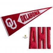 OU Sooners Embroidered Wool Pennant